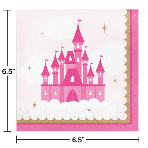 Little Princess Luncheon Napkins (16) - Party Zone USA