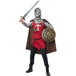 Men's Skull Knight Costume - Party Zone USA