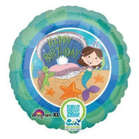 Mermaid Happy Birthday Balloon - Party Zone USA