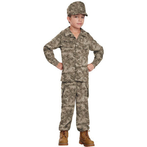 Military Soldier Child's Costume - Boy's - Party Zone USA
