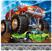 Monster Truck Rally Beverage Napkins (16) - Party Zone USA