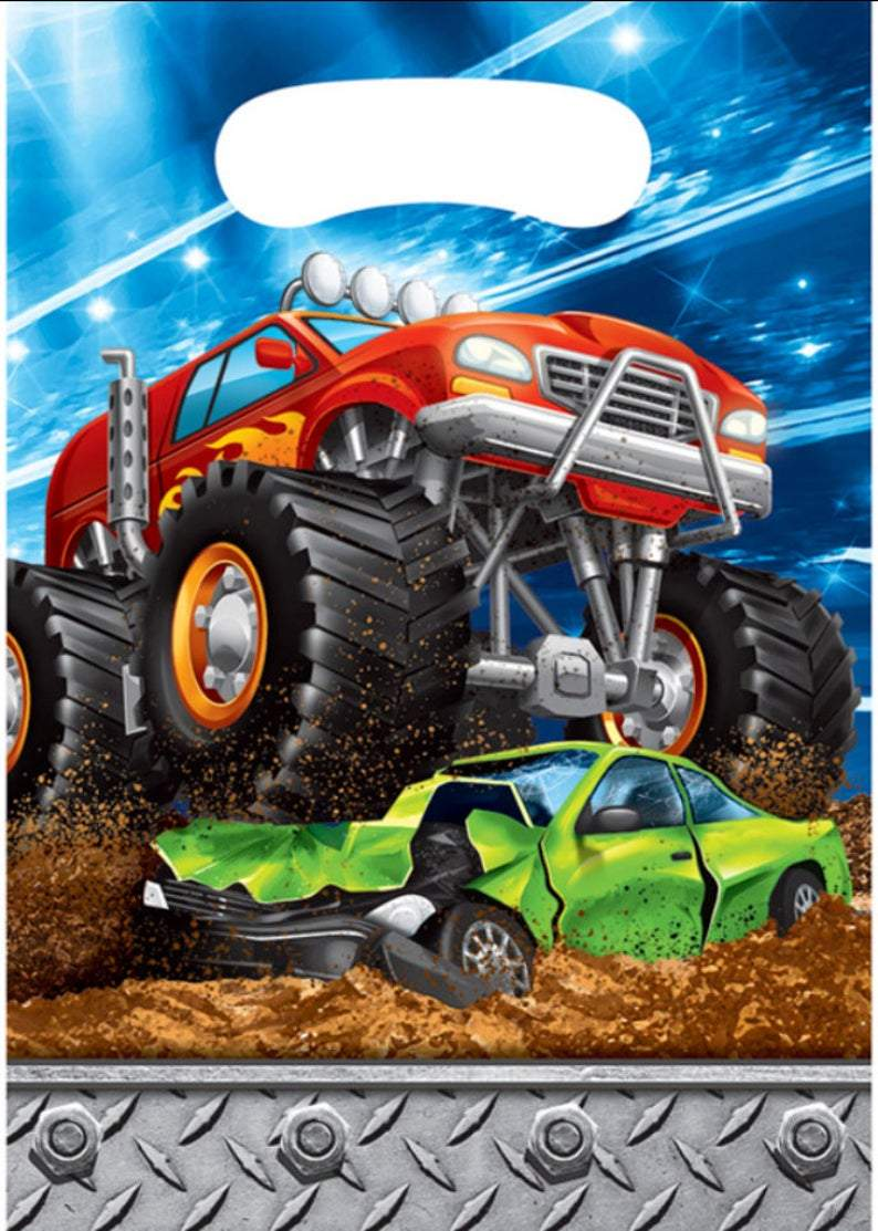 Monster Truck Rally Favor Bags (8) - Party Zone USA