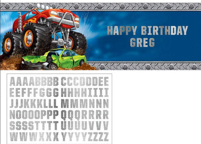 Monster Truck Rally Giant Banner - Party Zone USA