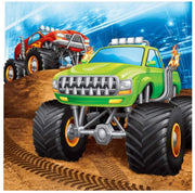 Monster Truck Rally Luncheon Napkins (16) - Party Zone USA