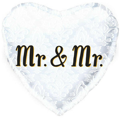 Mr & Mr Heart Shaped Foil Balloon - Party Zone USA