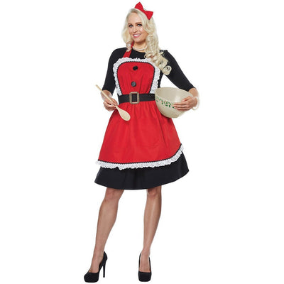 Mrs. Claus Apron Adult Costume - Women's - Party Zone USA