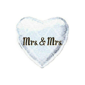 Mrs & Mrs Heart Shaped Wedding Shower Balloon - Party Zone USA