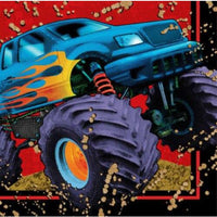 Mudslinger Monster Truck Beverage Napkins (16) - Party Zone USA