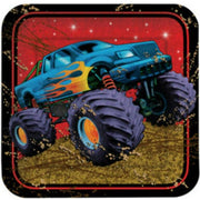 Mudslinger Monster Truck Dinner Plates (8) - Party Zone USA