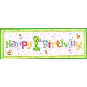 My 1st Birthday Giant Banner - Party Zone USA