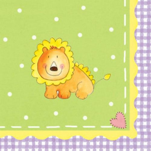 Nursery Friends Baby Shower Beverage Napkins (16) - Party Zone USA