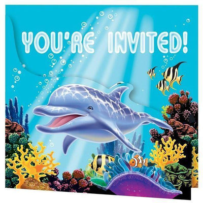 Ocean Party Invitations (8) - Party Zone USA