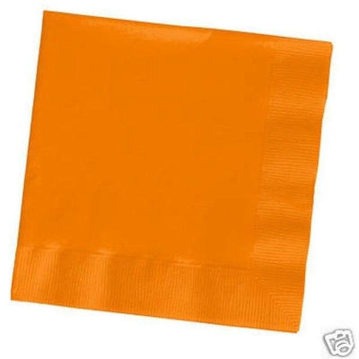 Orange Beverage Napkins (50) - Party Zone USA