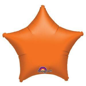Orange Star Shaped Balloon - Party Zone USA