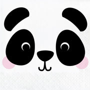 Panda Animal Faces Lunch Napkins (16) - Party Zone USA