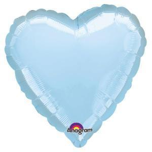 Pastel Blue Heart Shaped Balloon - Party Zone USA