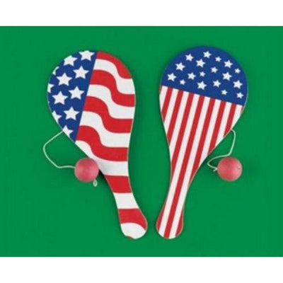 Patriotic Paddleball Favor (1) - Party Zone USA