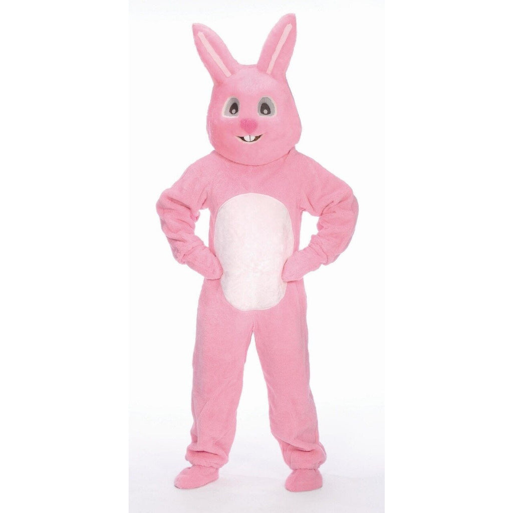 Pink Easter Bunny Costume w/Mascot Head - Adult - Party Zone USA