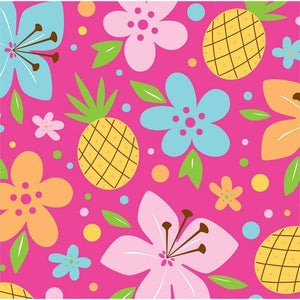 Pink Luau Fun Beverage Napkins (16) - Party Zone USA