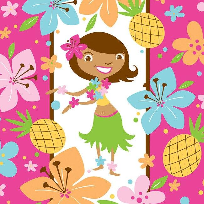 Pink Luau Fun Luncheon Napkins (16) - Party Zone USA