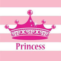 Pink Princess Royalty Lunch Napkins (16) - Party Zone USA