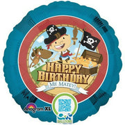 Pirate Happy Birthday Balloon - Party Zone USA