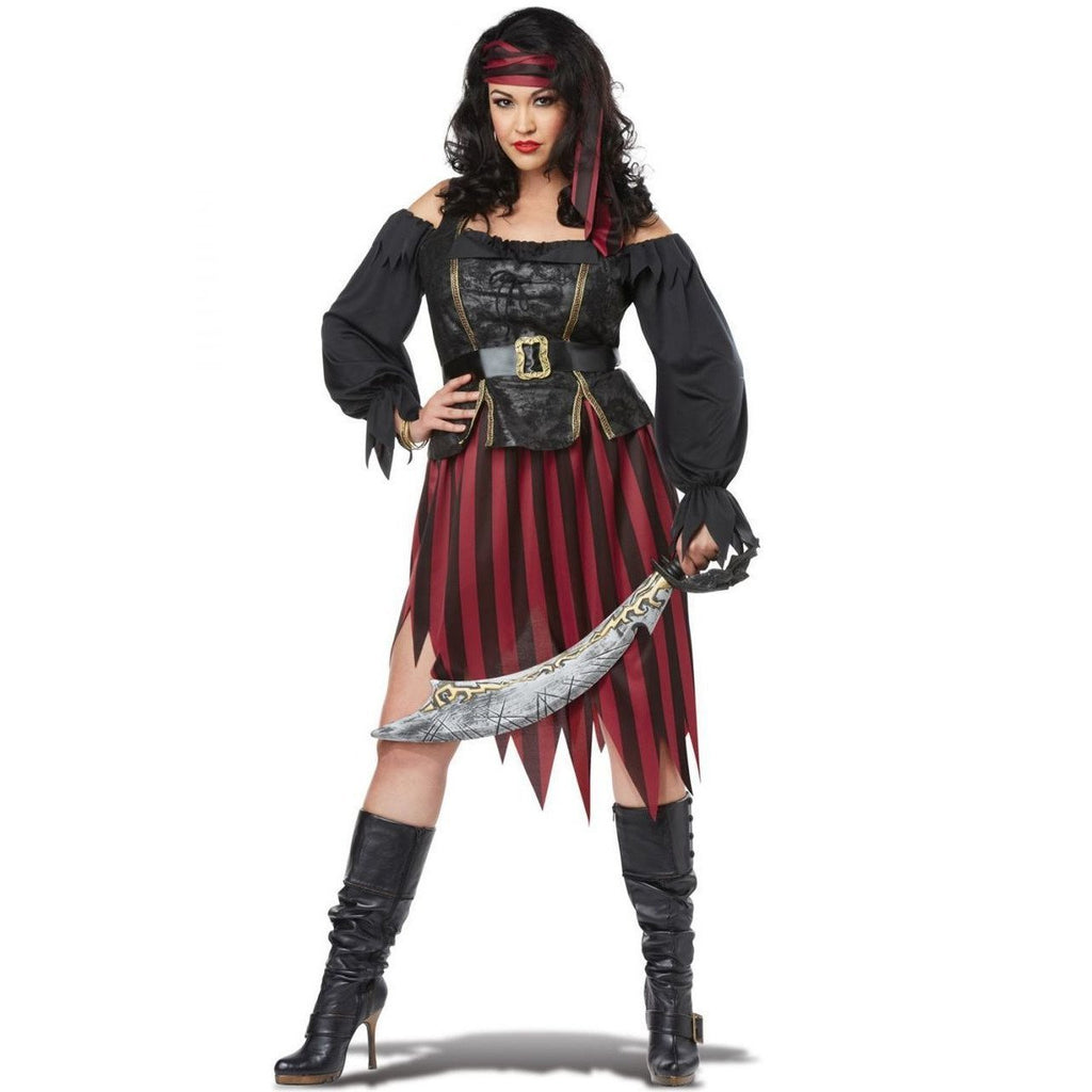 Pirate Queen of the High Seas Plus Size Costume - Party Zone USA