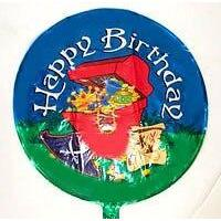 Pirate Treasure Happy Birthday Balloon - Party Zone USA