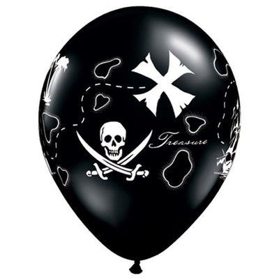 Pirate's Treasure Map Latex Balloons (10) - Party Zone USA