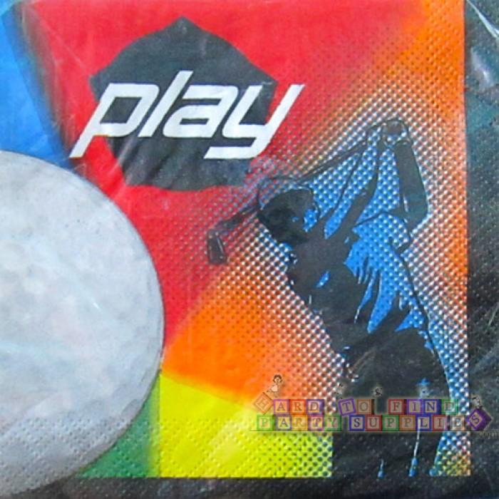 Play Golf Luncheon Napkins (16) - Party Zone USA