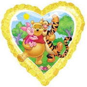 Pooh Sunny Heart Balloon - Party Zone USA