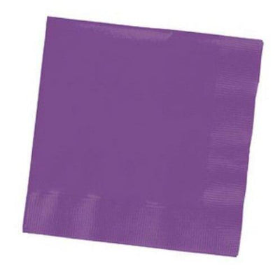 Purple Beverage Napkins (50) - Party Zone USA