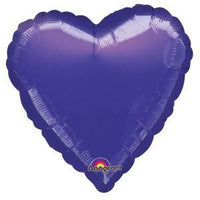 Purple Heart Shaped Balloon - Party Zone USA