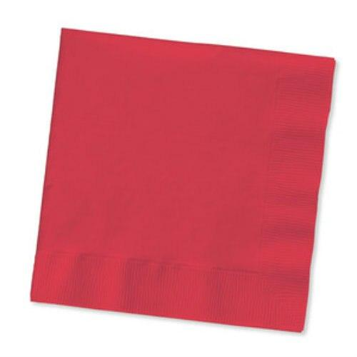 Red Beverage Napkins (50) - Party Zone USA