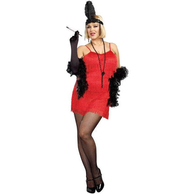 Red Flapper Plus Size Dress Costume - Party Zone USA