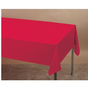 Red Plastic Table Cover - Party Zone USA