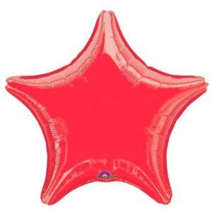 Red Star Shaped Balloon - Party Zone USA