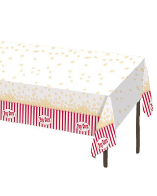 Reel Hollywood Popcorn Themed Table Cover - Party Zone USA