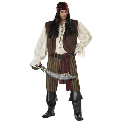 Rogue Pirate Men's Costume - Plus - Party Zone USA