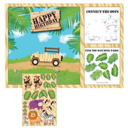 Safari Adventures Activity Placemats (8) - Party Zone USA