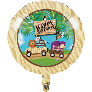 Safari Adventures Happy Birthday Balloon - Party Zone USA