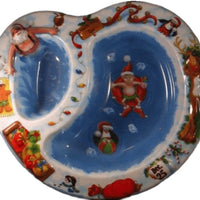 Santa Claus Christmas Chip Dip Tray - Party Zone USA