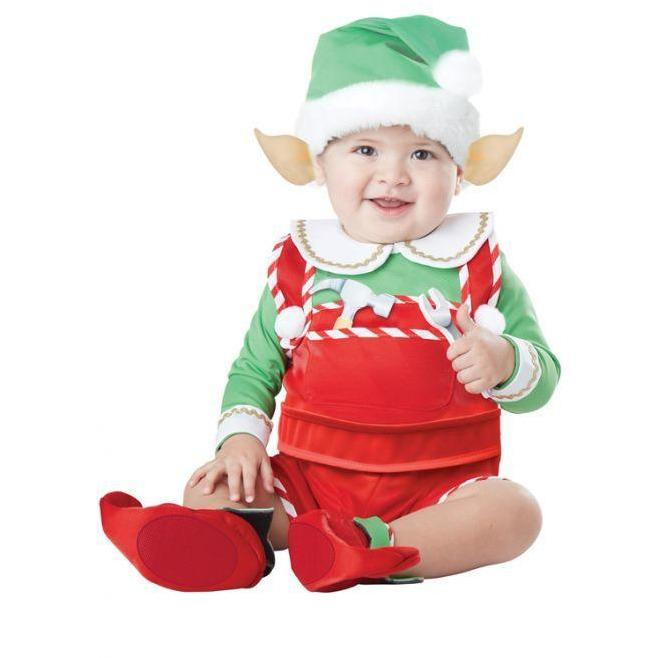 Santa's Lil' Helper Elf Costume - Infant - Party Zone USA
