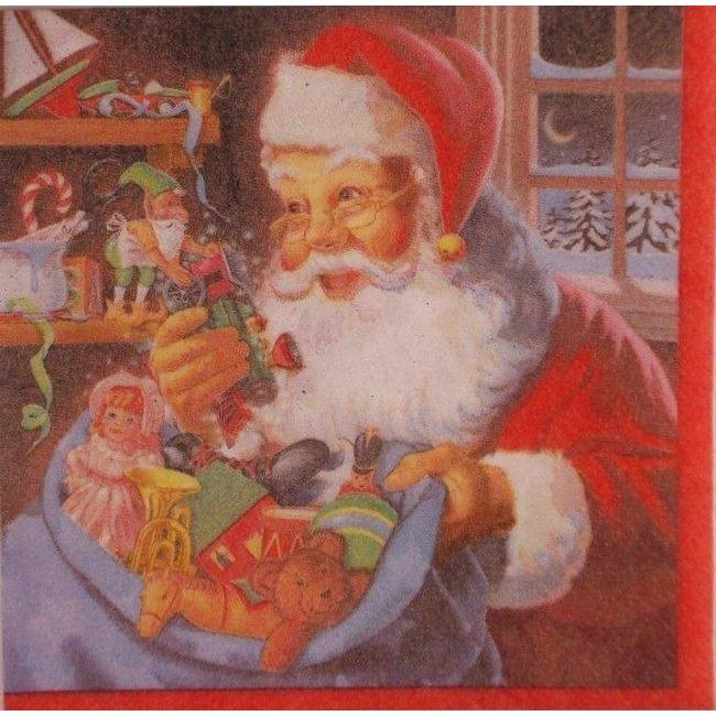 Santa's Workshop Luncheon Napkins (20) - Party Zone USA