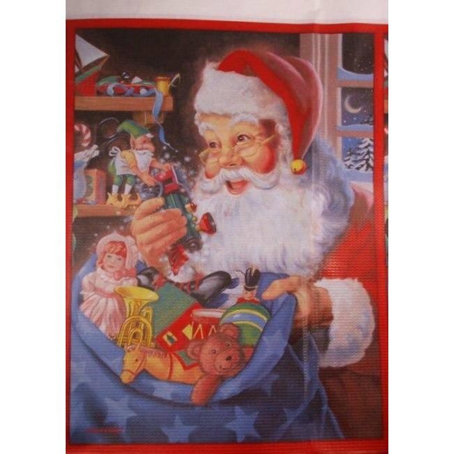 Santa's Workshop Table Cover - Party Zone USA