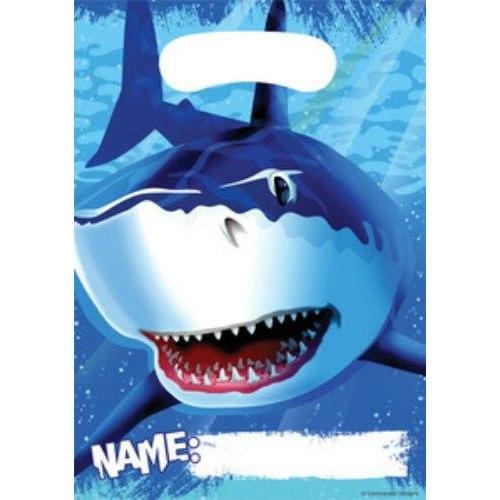 Shark Splash Loot Bags (8) - Party Zone USA