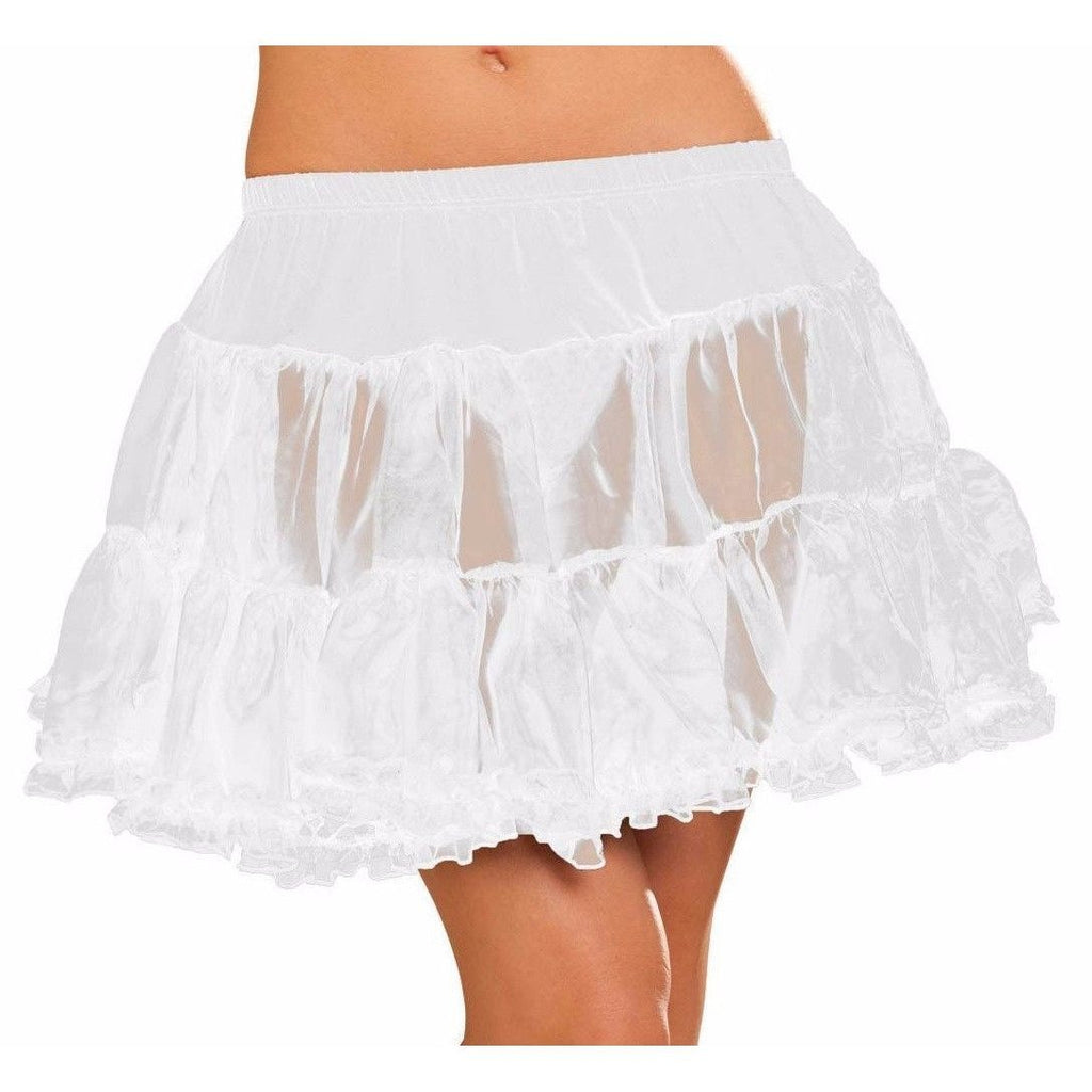 Sheer Tulle White Petticoat - Party Zone USA