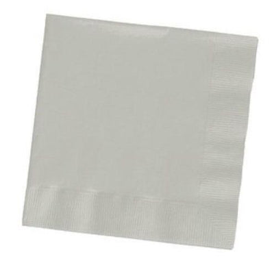 Silver Beverage Napkins (50) - Party Zone USA