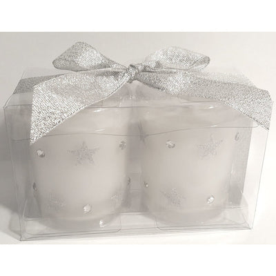 Silver Stars and Jewels Favor Votive Candle Set - Party Zone USA