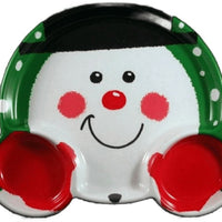 Snowman Divided Snack Tray - Party Zone USA